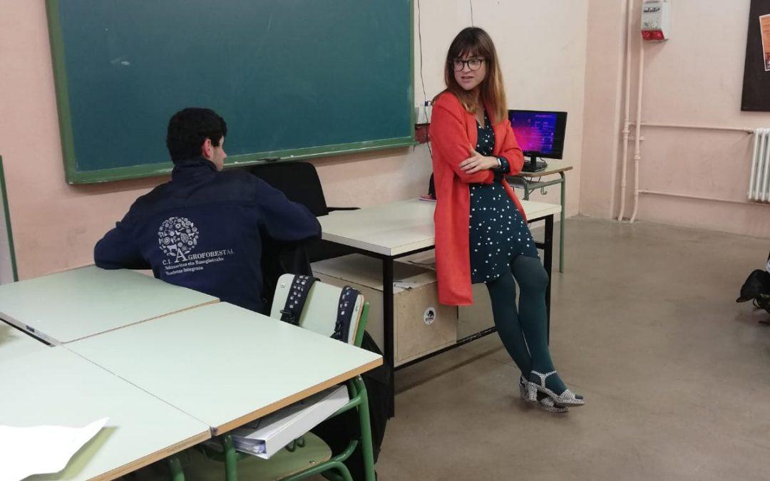 ADEMAN participa en un charla para alumnos del CI AGROFORESTAL