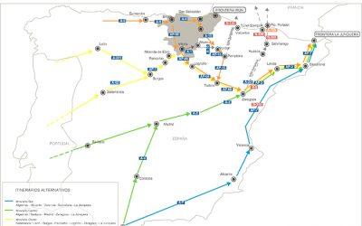 Restricciones al tránsito de vehículos pesados en Navarra por la cumbre del G7