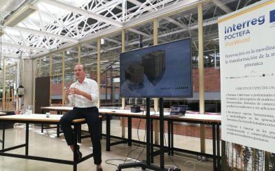 Andrew Waugh, arquitecto de referencia a nivel internacional, visita Navarra dando una ponencia sobre construcción con madera para alumnos y empresas del sector