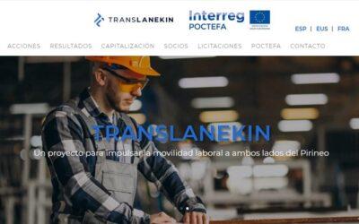 Translanekin: un Proyecto para impulsar la movilidad laboral transfronteriza. Avances a través de la nueva página web.
